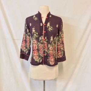 Anthro Fei Asian Inspired Button Down Blouse